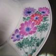 アネモネの花の帽子  グレー 木綿100%