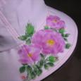 ツル薔薇の花の帽子 ピンク 木綿100%