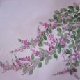 萩の花 (紫の着物地 地模様入り 絹100%)