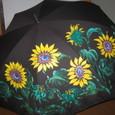 ひまわりの花の雨晴れ兼用パラソル