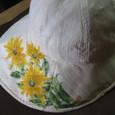 ルドベキアの花の帽子  白 木綿100%