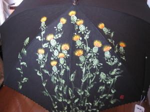 紅花の花(黒のパラソル)
