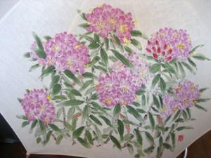 シャクナゲの花(麻の白いパラソル)