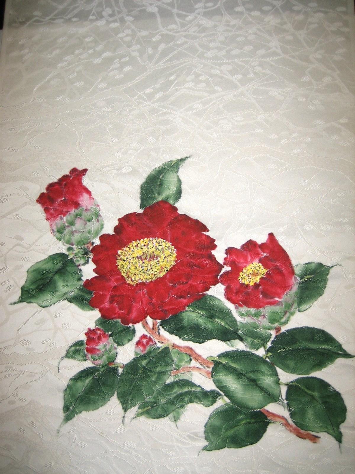肥後椿の花