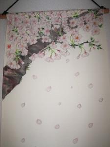 桜の花のタペストリー