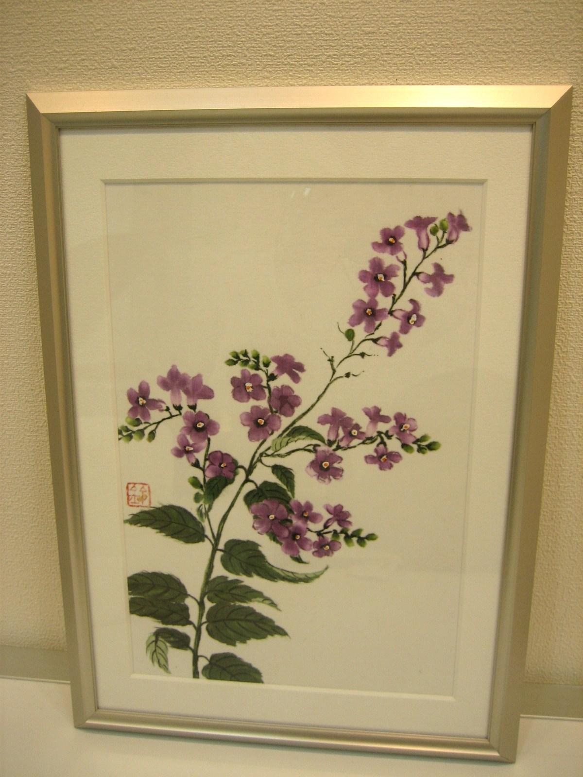 デュランタの花 (綿100%) 額装丁