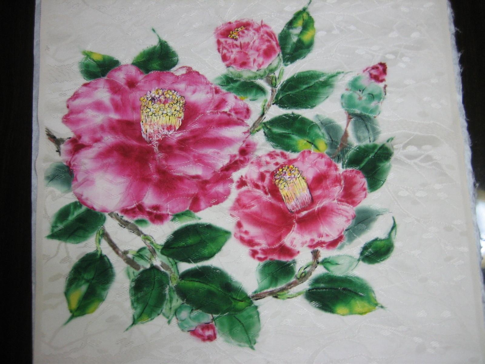 久留米つばきの代表 「正義」の花の絵