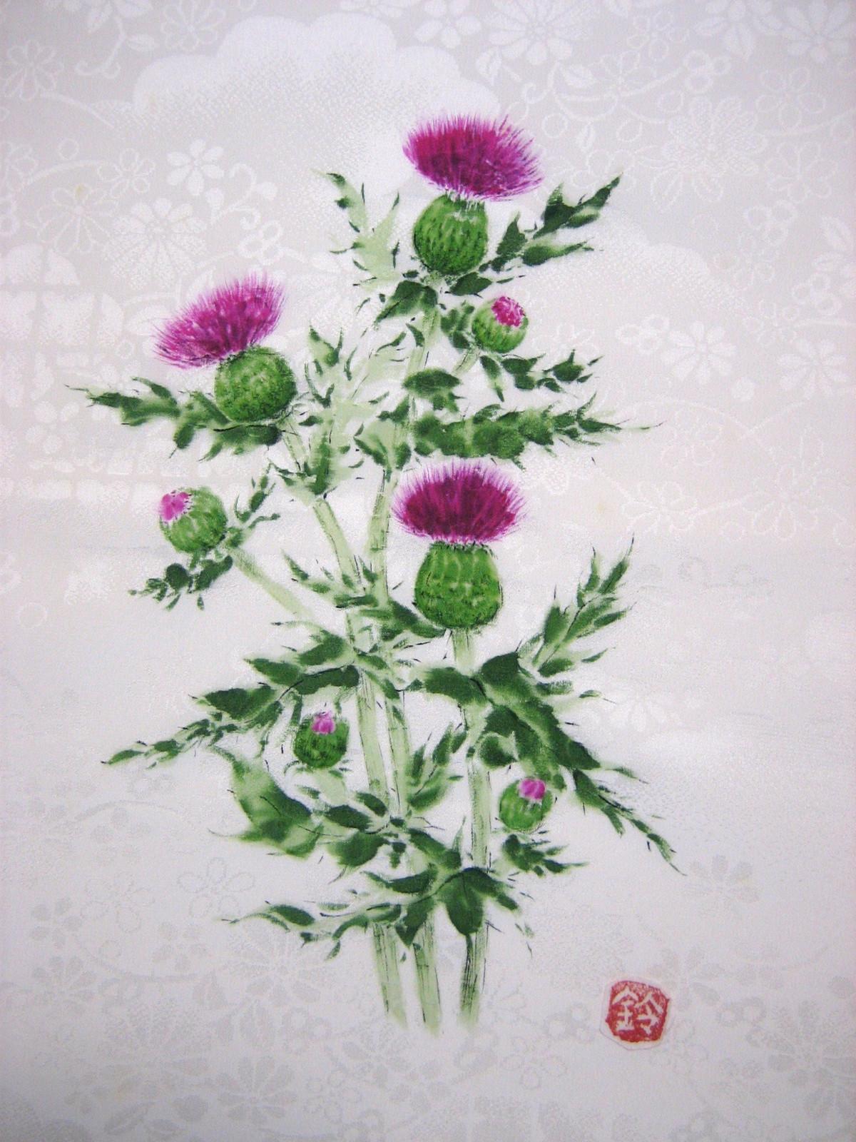 野アザミの花