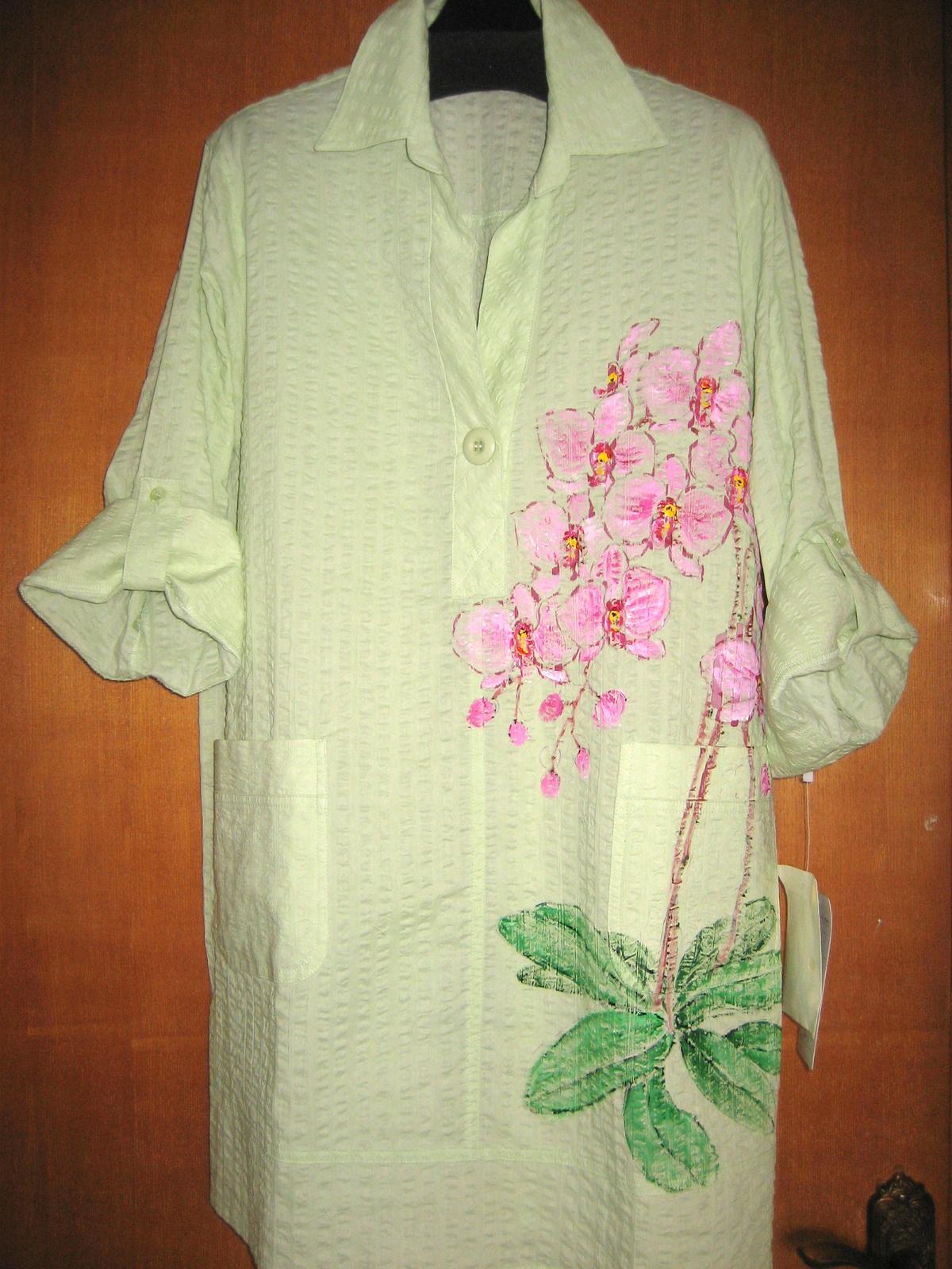 胡蝶蘭の花のオーバーブラウス